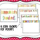 Common Core Standards Posters for Kindergarten