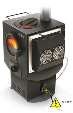 wow!! A wood stove that generates electricity!