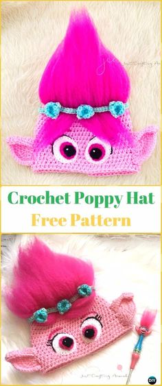 Crochet Poppy Hat Free Pattern - Crochet Halloween Hat Free Patterns