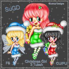 ScrapGrafikShop: CU/PU Christmas Girl