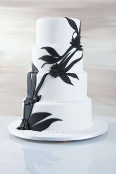 #weddingcake #blackandwhiteweddingtheme