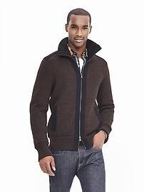 Birdseye Zip Sweater Jacket