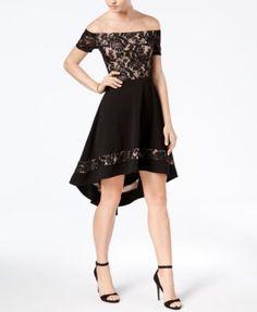 c0635c040e3 City Studios Juniors  Off-The-Shoulder High-Low Dress Junior Outfits