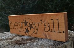 $35.00 Hey Y'all Tennessee Stars Sign Wood Burned by FiddleandInk