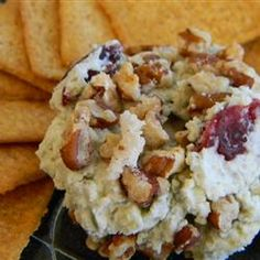 Blue Cheese, Sweet Pecan, and Cranberry Spread Allrecipes.com