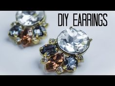 DIY - TUTO : BOUCLES D'OREILLES EN STRASS - Rhinestone statement earrings swarovski(english subs) - YouTube