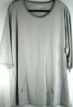 Sport Tek Women S/S Tee Shirt Size 4XL Gray 100% Cotton NEW.  XXX 41 #SportTek #BasicTee