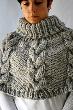 Looking for your next project? You're going to love Chunky Knit Cable Poncho by designer Ashley_Lillis. - via @Craftsy