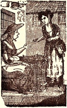 19th c Watercress seller, from remarkable Spitalfields Life blog http://spitalfieldslife.com/2014/08/19/yet-more-of-charles-hindleys-cries-of-london/