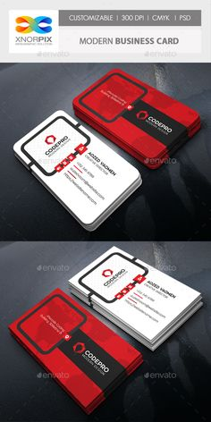 Modern #Business #Card - Corporate Business Cards Download here:          https://graphicriver.net/item/modern-business-card/20441327?ref=alena994