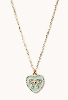Sweetheart Bow Necklace | FOREVER21 - 1000075858