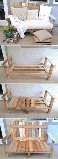 Cool DIY Yard Furniture Ideas 2017 You are in the right place about diy furniture projects Here Diy Yard Furniture, Wooden Pallet Furniture, Furniture Projects, Wood Pallets, Diy Pallet Sofa, Furniture Market, Furniture Movers, Diy Furniture From Pallets, Pallet Furniture Diy Outdoor