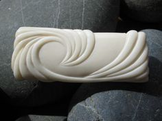 Wave - Carved Bone Brooch. $150.00, via Etsy.