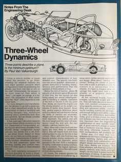 1984 article in Cycle World by Paul Van Valkenburgh Old Sports Cars, Classic Sports Cars, Motorized Trike, Morgan Cars, Electric Trike, Diy Go Kart, Custom Trikes, Bike Components, Reverse Trike