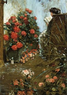 In the Garden at Villiers-le-Bel (1889). Frederick Childe Hassam (American, 1859-1935). Oil on canvas.