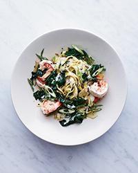 Fettuccine with Shrimp Recipe -Justin Chapple | Food