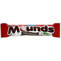 Mounds Candy Bar, Dark Chocolate Coconut Filled, 1.75-Ounce Bars (Pack of 36)