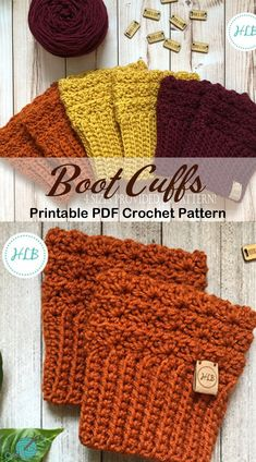 Make a pair of boot cuffs. From any of these boot cuff crochet patterns. Guêtres Au Crochet, Crochet Patron, Crochet Boots, Crochet Quilt, Crochet Gloves, Crochet Slippers, Crochet Crafts, Diy Crochet Clothes, Chunky Crochet Hat