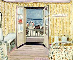 Interior, July 14th, Etretat, 1920 (oil on canvas) / Henri Matisse