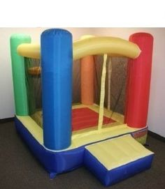 """Amazon.com: My Bouncer Little Round Castle Bounce 78"""" L x 78"""" W x 72"""" H Ball Pit Popper w/ Phthalate Free Puncture Resist Nylon Material: To..."""