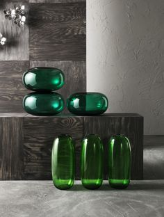 These vases are mouth blown and scratch resistant.The STOCKHOLM collection, 2013.
