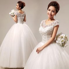 Free Shipping 2014 slit neckline lace sweet princess sexy wedding qi hs290  New Arrival!