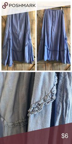 ✨NEW✨Boho Festival Maxi Skirt Cornflower blue festival skirt! Good used condition! Skirts Maxi