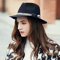 Fashion wool fedora hat for women vintage bow felt hats b7db104bd773