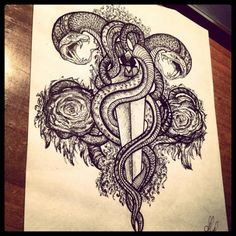 Tattoo The victory of evil - tattoo's photo In the style Graphics, Snak Evil Tattoos, Snake Tattoo, Tattoo Photos, Tattoo Drawings, Lion, Sketch, Graphics, Paper, Style