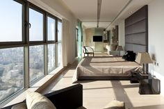 Opera Penthouse by Domb Architects in  Netanya, a city in the Northern Central District of Israel.