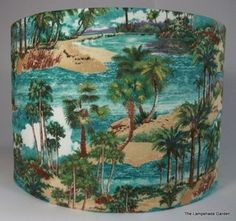 172 best funky lampshades images on pinterest lamp shades 1950s rockabilly retro vintage tiki hawaii palm tree handmade lampshade 12 aloadofball Gallery