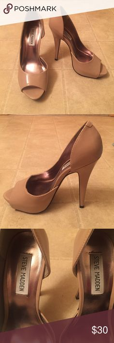 Steve Madden Nude Heel Great condition! Only worn twice. Steve Madden Shoes Heels