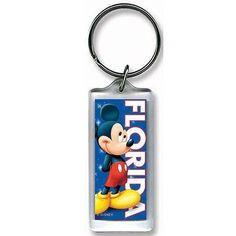 Disney Coy Mickey Lucite Keychain