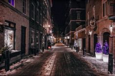 Empty Street by Lee Bodson / Quebec City, Empty, Places To Visit, Street, Photography, Beautiful, Google, Photograph, Roads