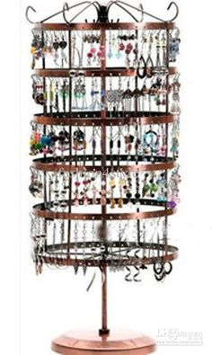 Wholesale Earring Display - Buy Christmas 288 Holes Rotating Earrings Metal Jewelry Display Stand Rack Holder Organizer Stand, $38.64 | DHgate