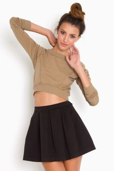 let's bring high-waisted schoolgirl skirts back in style