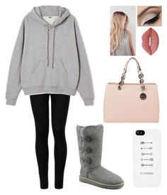 """Read Description plz"" by blessed-with-beauty-and-rage ❤ liked on Polyvore featuring Wolford, Ailin, UGG Australia, MICHAEL Michael Kors and Lime Crime"