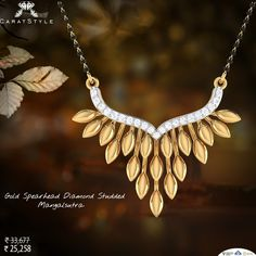 8ffdf29f566 Buy gorgeous and expensive Gold Spearhead Mangalsutra at reasonable price.  We offer the largest selection of Diamond Mangalsutra Designs online India.