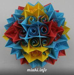 #Кусудама «Curler» (видеоинструкция) http://miuki.info/2011/01/kusudama-curler-videoinstrukciya/