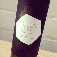 Olive Oil labels we designed and letterpress printed for a little company called Ellen Hill. #letterpress #workshop