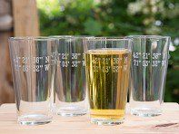 Let these personalized pint glasses serve as an everyday reminder of a special place. Send Susquehanna Glass Company any location, and they'll find the coordinates to create glasses just for you. The Latitude and Longitude design is an exclusive collaboration with us that uses sand etching to leave a clean, crisp finish. Each glass is created in the USA with a keen eye for detail and a strong tradition—over 100 years and counting—of craftsmanship.