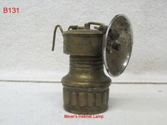 VINTAGE BRASS CARBIDE COAL MINER HELMET LAMP LANTERN SAFESPORT BUTTERFLY ANTIQUE
