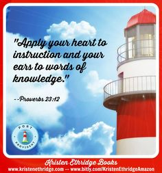 """Verse of the Day:   """"Apply your heart to instruction and your ears to words of knowledge."""" --Proverbs 23:12  A heart that wants to learn and ears that hear wisdom...a recipe for success, and a great verse to pray over your kids for their days in school!"""