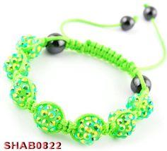 45mm Fresh Green Fashion Resin Crystal Disco Ball Bracelet Charms Jewelry