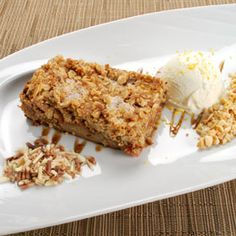 Peanut Butter, Jam and Banana Crisp, a recipe from ATCO Blue Flame Kitchen's Everyday Delicious 2013 cookbook.