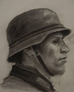 """Nazi sketch #soldier #charcoaldrawing #charcoal #sketch #worldwar2 #nazi #deutchland #disegno #fineart #instaart #illustration #sketchbook #artwork…"""