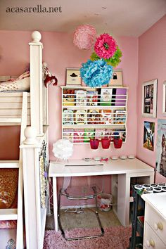 'A Casarella: Small Space Makeover: From Reading Nook to Desk Space