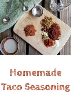 This healthier homemade taco seasoning comes together in less than 10 min., and doesn't have any of the additives that store-bought taco seasoning contains! Homemade Taco Seasoning Mix, Homemade Tacos, Seasoning Mixes, Other Recipes, New Recipes, Favorite Recipes, Mexican Food Dishes, Mexican Food Recipes, Spice Rub