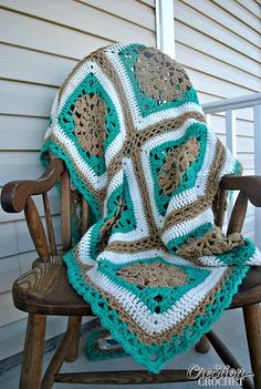 Ravelry: Sand and Surf Throw pattern by Lorene Haythorn Eppolite- Cre8tion Crochet