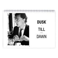 Tom Hiddleston  Dusk Till Dawn Calendar by MovieShop on Etsy